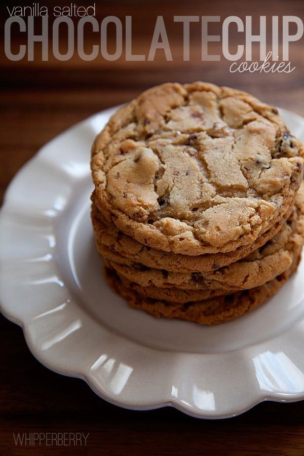 Vanilla Salted Chocolate Chip Cookies