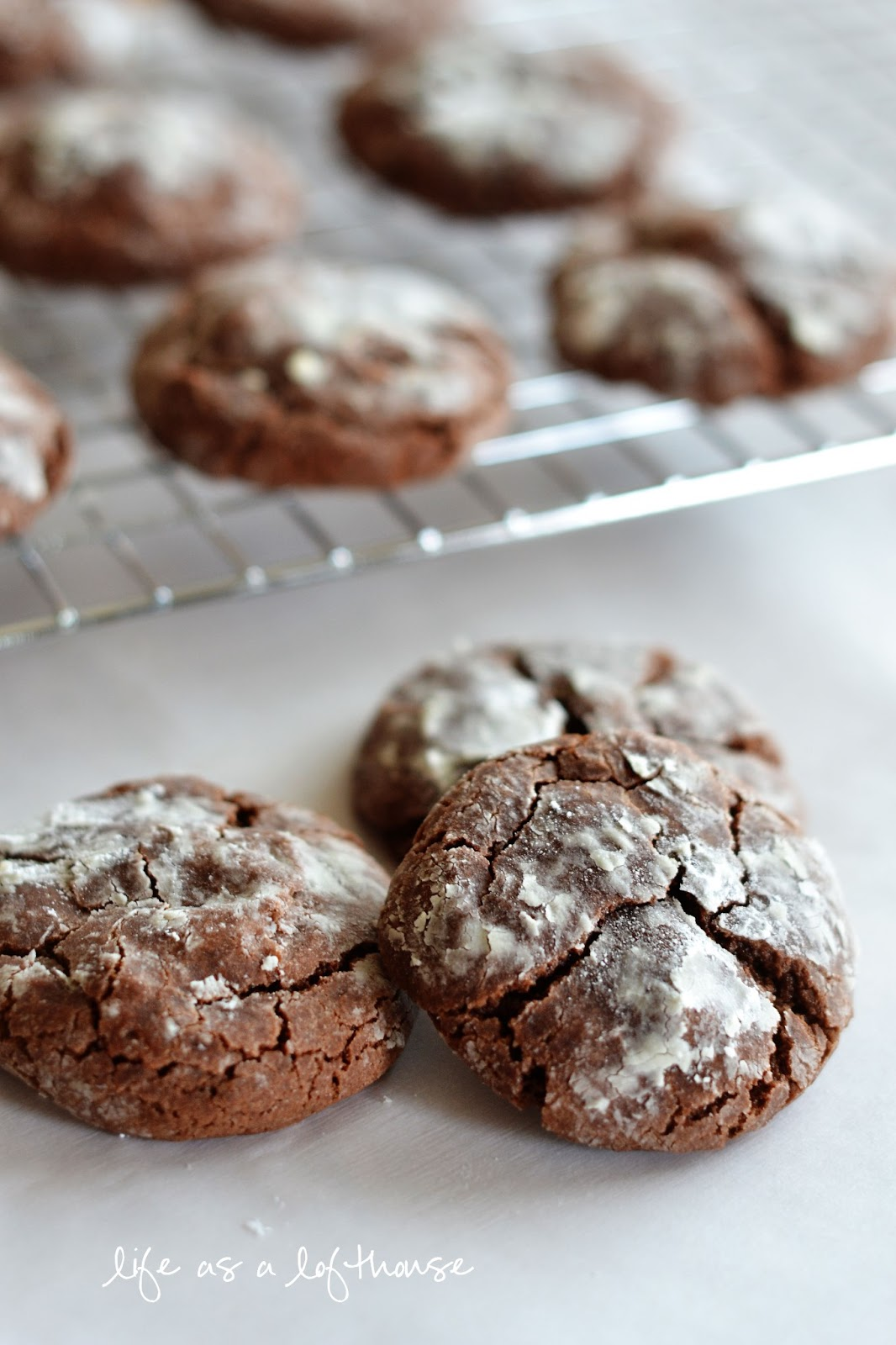 Chocolate Crinkle Cookies from Life in the Lofthouse