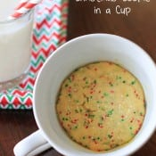 Microwave Christmas Cookie in a Cup