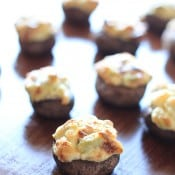 Jalapeno and Artichoke Stuffed Mushrooms