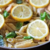 One Pan Lemon Garlic Chicken Pasta