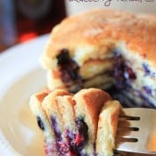 Sour Cream Blueberry Pancakes-3