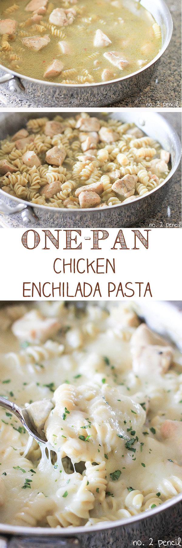 One-Pan Chicken Enchilada Pasta