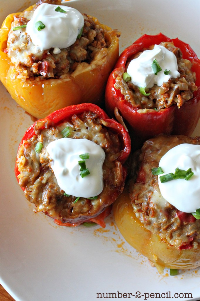 Slow Cooker Mexican Stuffed Bell Peppers