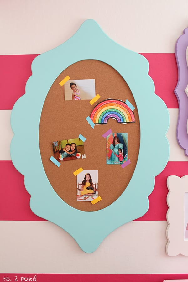 DIY Bulletin Board with Cut It Out frame