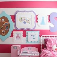Little Girl Room Gallery Wall