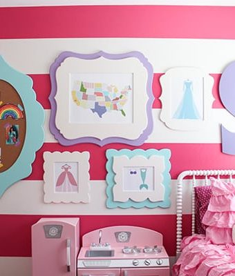 DIY Gallery Wall for Little Girl Room & Cut It Out Frames Giveaway