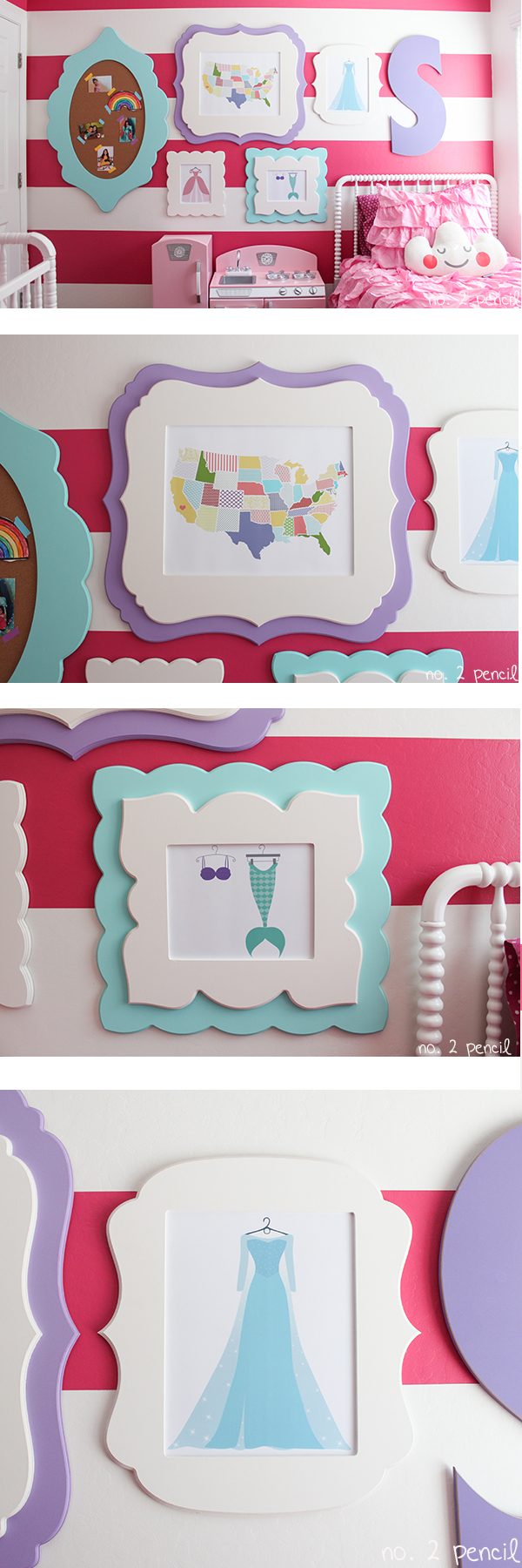 DIY Gallery Wall for Little Girl's Room