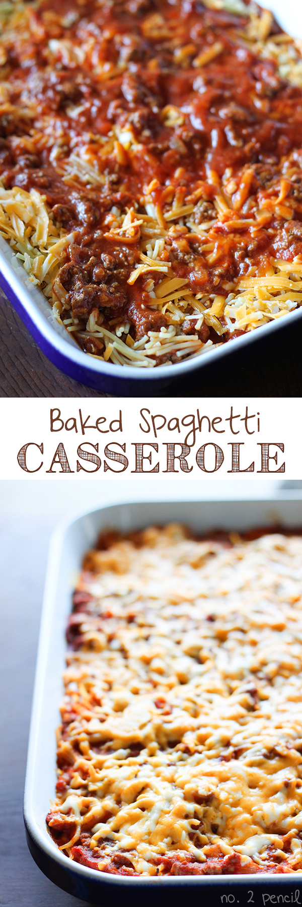Baked Spaghetti - Bite sized pieces of spaghetti baked together with ...