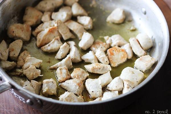 One-Pot Portobello Chicken Alfredo