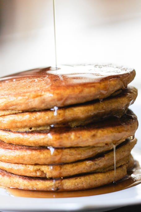 Pumpkin Pancakes - perfectly tender and fluffy every time!