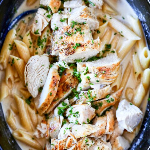 Slow Cooker Chicken Alfredo Crockpot Chicken Alfredo Recipe