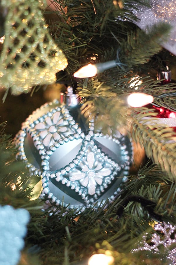 Martha Stewart Frosted Traditions Ornaments from Home Depot