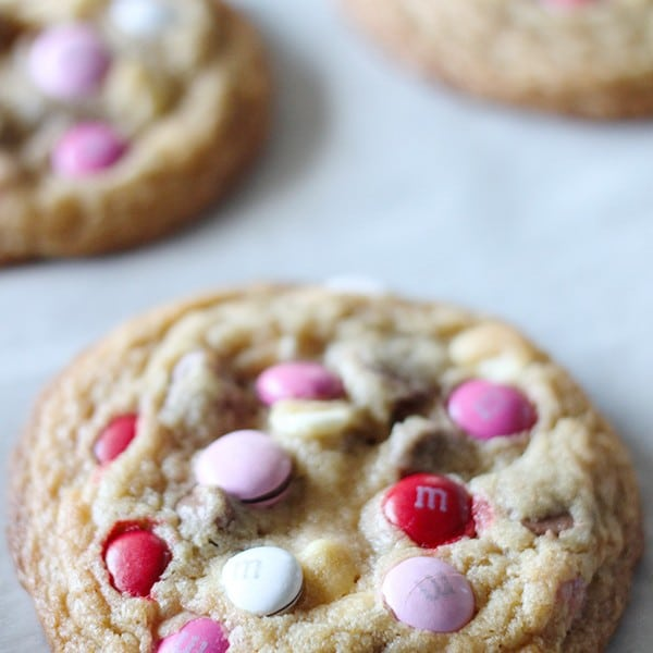 Valentine M and M Cookies-4
