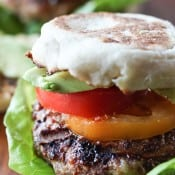 California Style Grilled Turkey Burgers