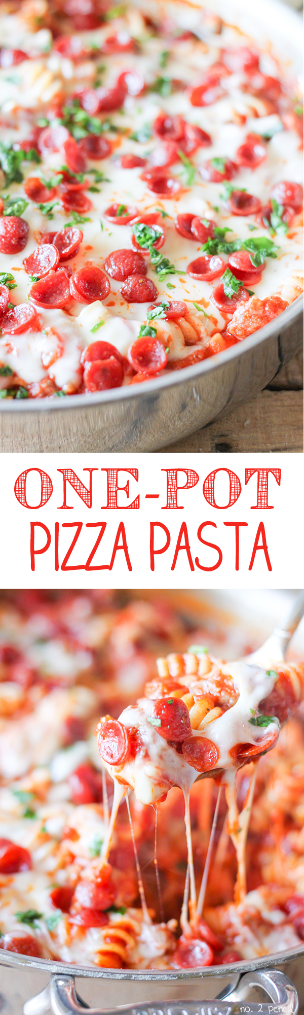 One-Pot Pizza Pasta