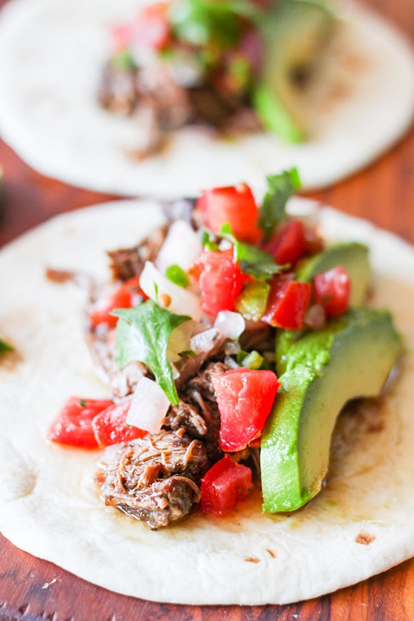 Slow Cooker Barbacoa Beef Tacos