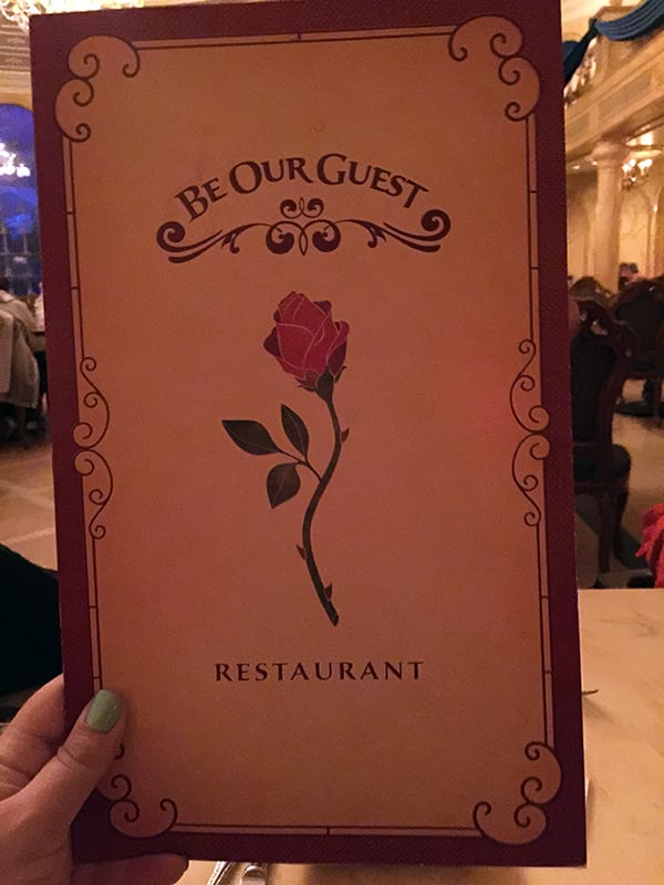 Be Our Guest Restaurant at Disney World Magic Kingdom