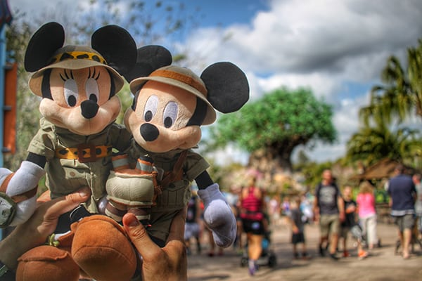 Safari Mickey and Minnie at Disney World Animal Kingdom