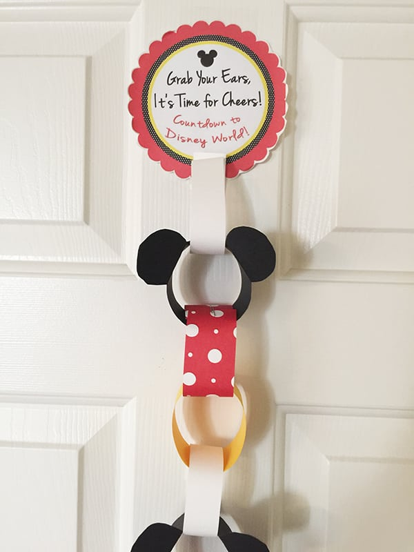 Mickey Countdown Chain for Disney World