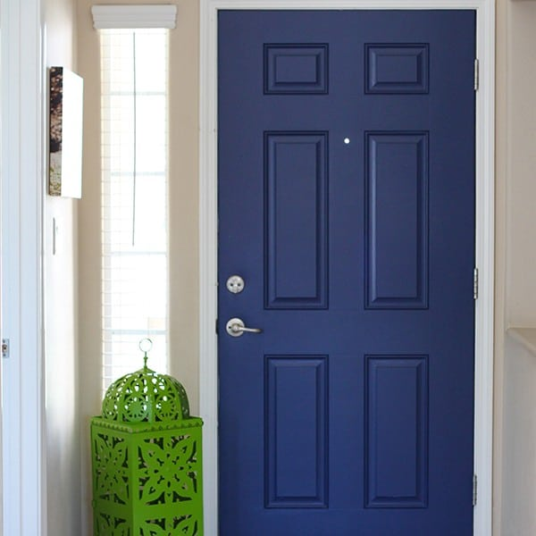 Navy Blue Interior Front Door – Easy Pop of Color