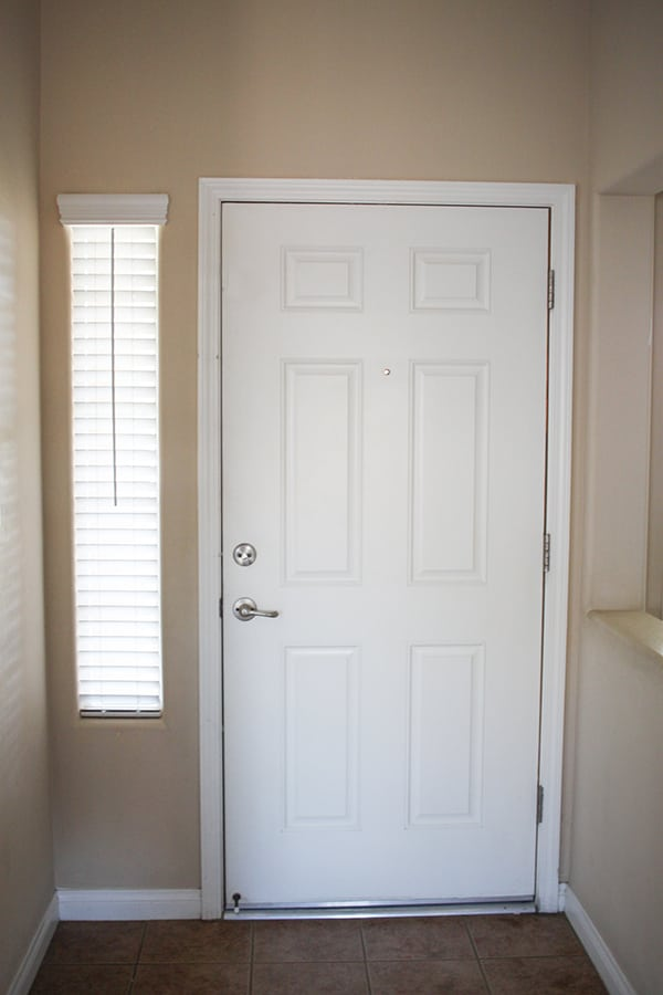 Great Paint Both Sides Of Your Front Door For A POP Of Color   Navy Blue Interior