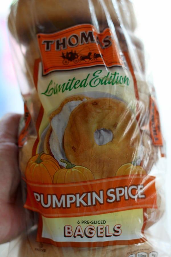 Thomas' Pumpkin Spice Bagels