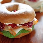 Thomas Turkey Cranberry Pumpkin Spice Bagel Sandwich Rich Pin