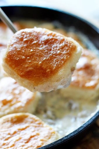 One-Pot Biscuits and Gravy