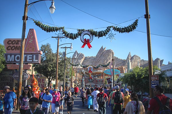 Christmas Disneyland Cars Land