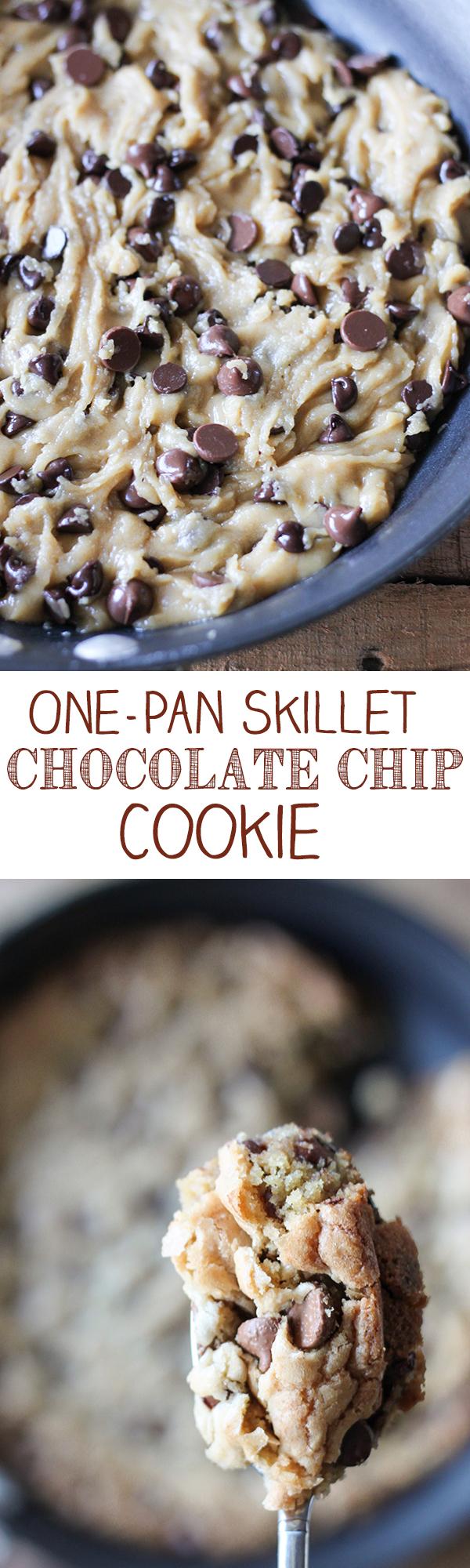 One-Pan Skillet Chocolate Chip Cookie