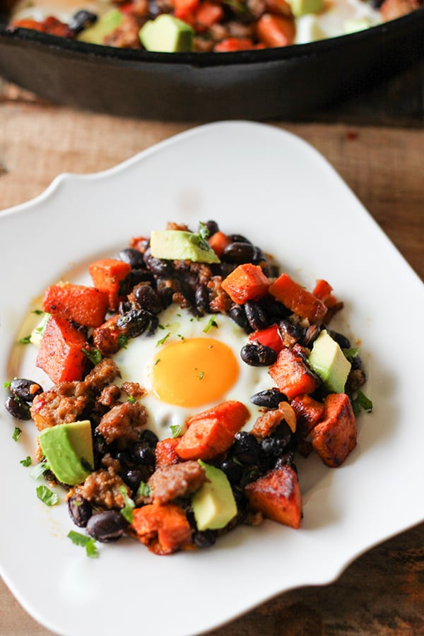 Southwestern Skillet Sweet Potato Breakfast Hash