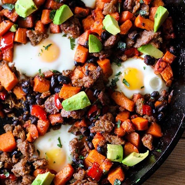 Southwestern Skillet Sweet Potato Breakfast Hash