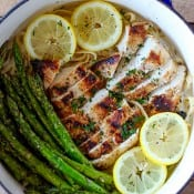 Grilled Chicken and Asparagus Alfredo-7