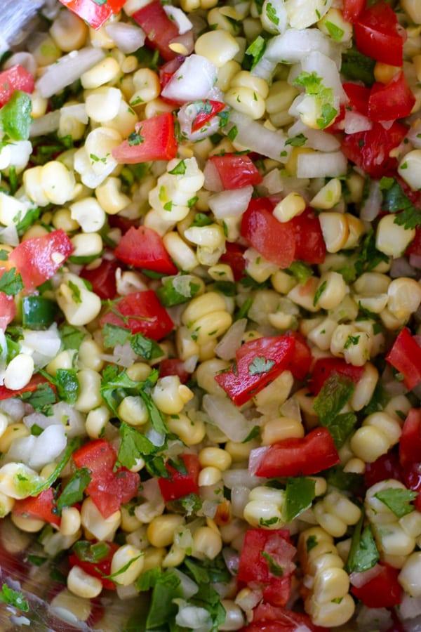 Fresh Grilled Corn Salsa