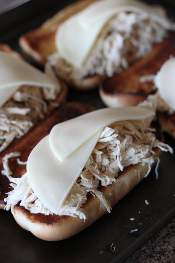 Slow Cooker Chicken French Dips