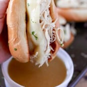 Slow Cooker Chicken French Dips-7