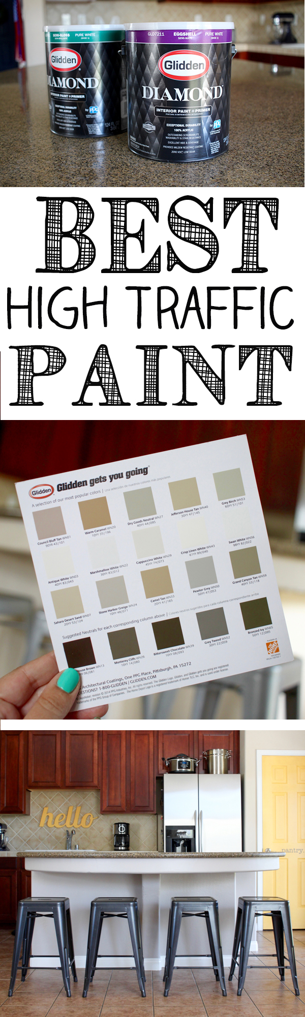 Our Kitchen Island Update And Glidden Diamond Paint Primer Giveaway