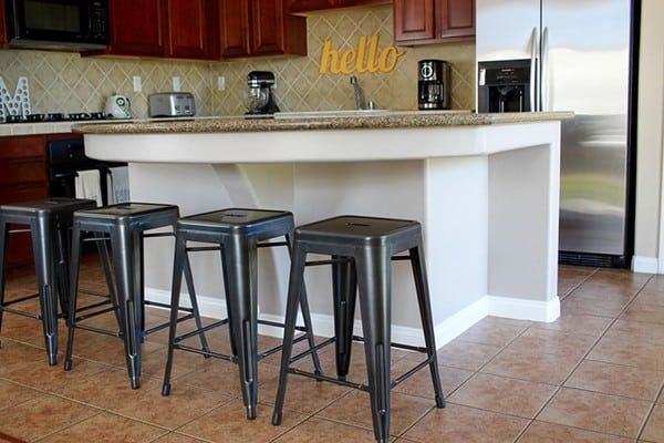 Our Kitchen Island Update and Glidden Diamond Paint and Primer Giveaway