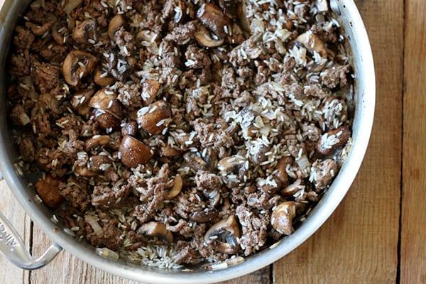 One Pot Hawaiian Loco Moco - an easy one-pot breakfast or dinner version of the local Hawaiian comfort food.