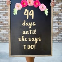 DIY Wedding Countdown Sign-6