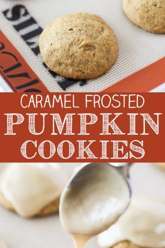 Caramel Frosted Pumpkin Cookies