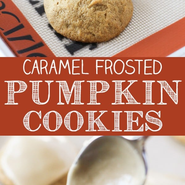 Caramel Frosted Pumpkin Cookies