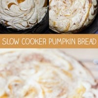 Slow Cooker Cream Cheese Swirl Pumpkin Bread Collage