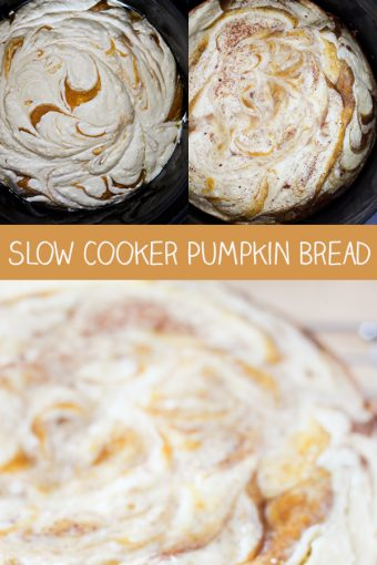 Slow Cooker Cream Cheese Swirl Pumpkin Bread