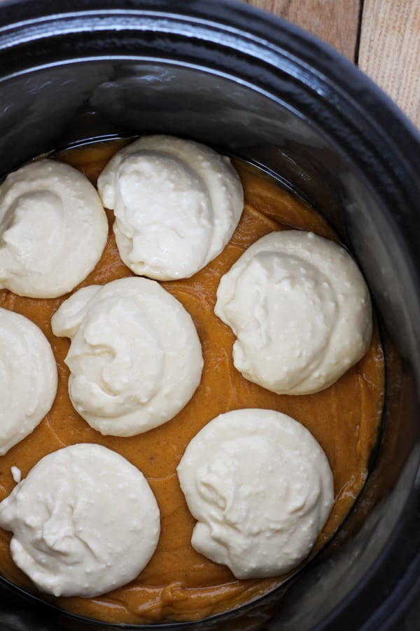 Slow Cooker Cream Cheese Swirl Pumpkin Bread