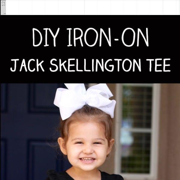 DIY Jack Skellington Iron On Vinyl Tee with Cricut Explore Air 2 Review