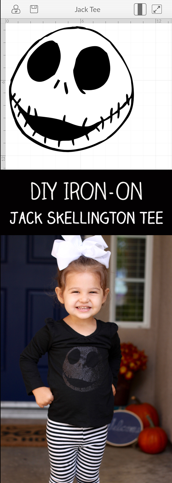 DIY Jack Skellington Iron On Vinyl Tee with Cricut Explore Air 2