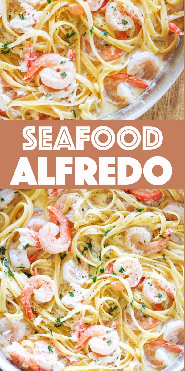 New Recipes Homemade Seafood Alfredo - One Pot Shrimp and Crab Alfredo