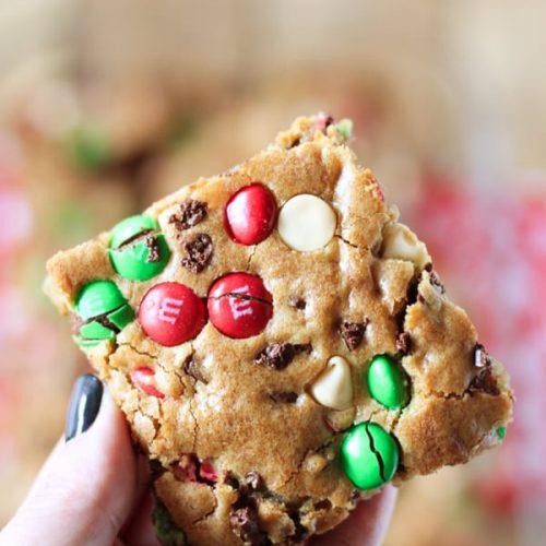 M M S Christmas Cookie Bars